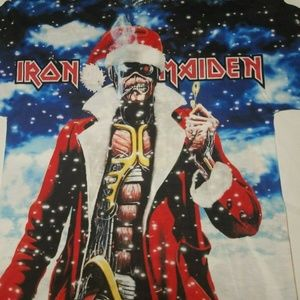 3D Iron Maiden Christmas Small T-shirt